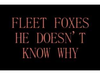 Fleet Foxes - He Doesn't Know Why