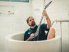 Sepultura - Andreas filming TV ad (April 2018) - Backstage