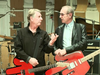 Status Quo - Rick Parfitt and Francis Rossi at the Coles video shoot.