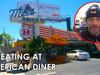 Jamiroquai - Jay eating at Mel's Diner in Los Angeles!